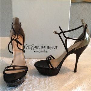 Brand new NBW YSL heals 38.5. Beautiful shoes.